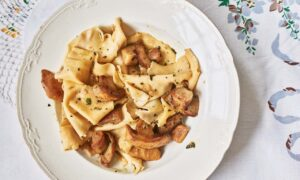 Marica's Strapponi With Porcini Mushrooms