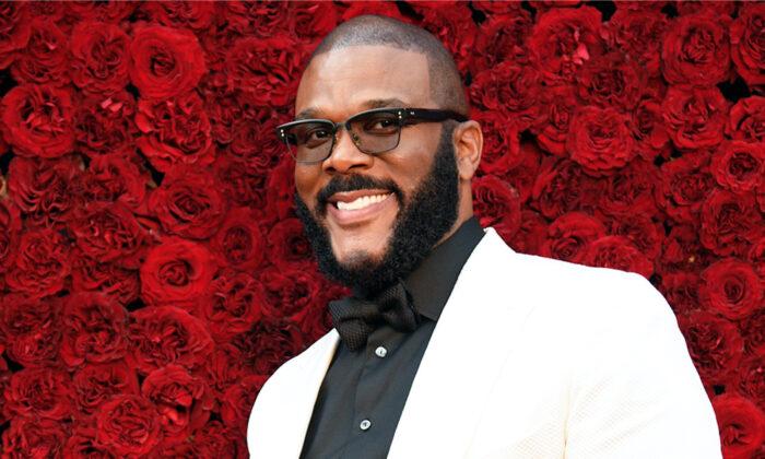 Actor Tyler Perry attends the grand opening of Tyler Perry Studios in Atlanta, Ga., on Oct. 5, 2019. (Paul R. Giunta/Getty Images)