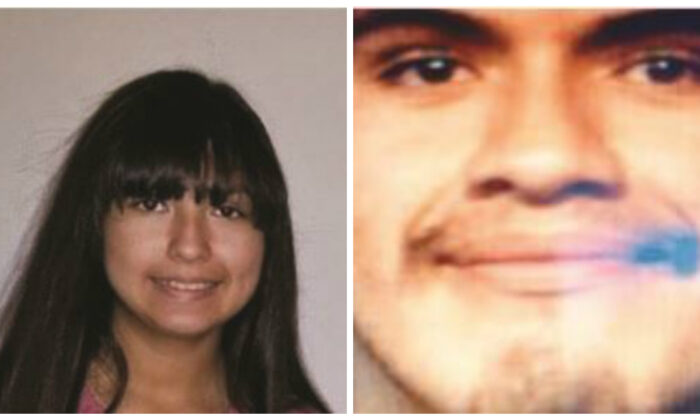(L-R) Betsabe Perez, 13, has gone missing from Val Verde County, Texas. Authorities believe she may have been abducted by Erik Diaz-Tapia, 19. (Val Verde County Sheriff's Office)