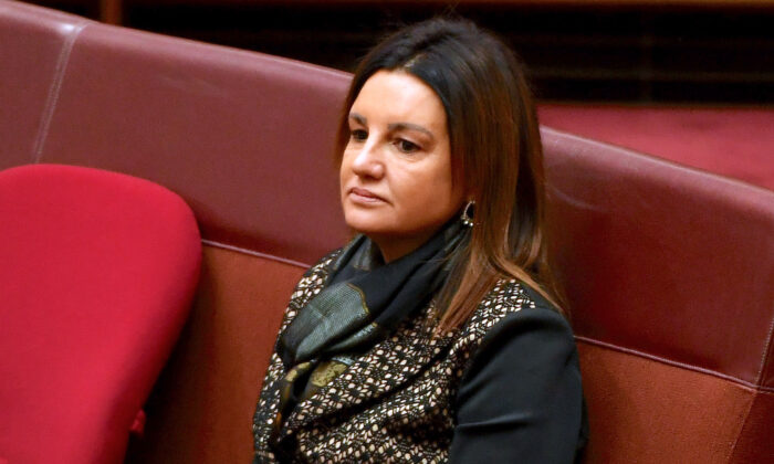 Australian Senator Jacqui Lambie in the Senate at Parliament House in Canberra, Australia on Sept. 9, 2019. (Tracey Nearmy/Getty Images)