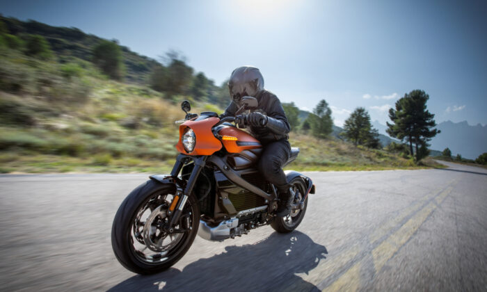 Harley-Davidson's new electric motorcycle, LiveWire, is shown in this handout photo released by Harley-Davidson. (Harley-Davidson Motor Company/Handout via Reuters)