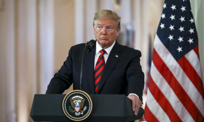 Prezident Donald Trump v Bílém domě, 2019. (Charlotte Cuthbertson/The Epoch Times)