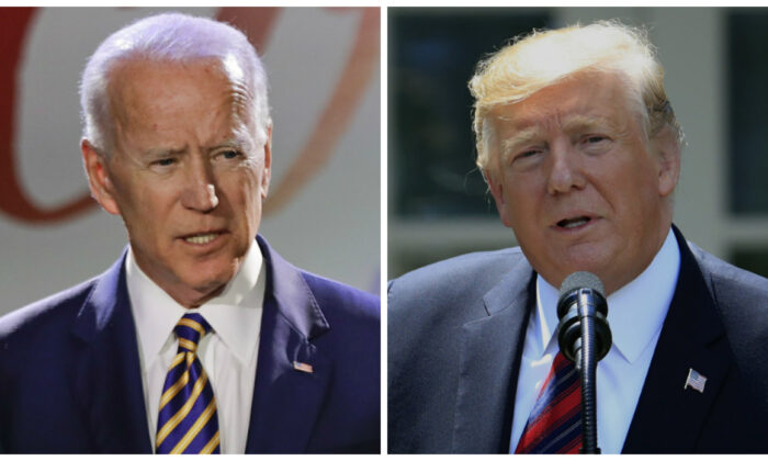 (L)-Former Vice President Joe Biden. (Frank Franklin II/AP Photo); President Donald Trump. (Manuel Balce Ceneta/AP Photo)