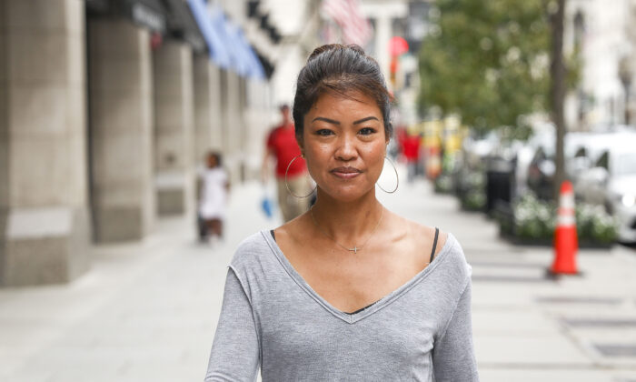 Michelle Malkin, author and political commentator, in Washington to promote her new book, on Sept. 14, 2019. (Charlotte Cuthbertson/The Epoch Times)