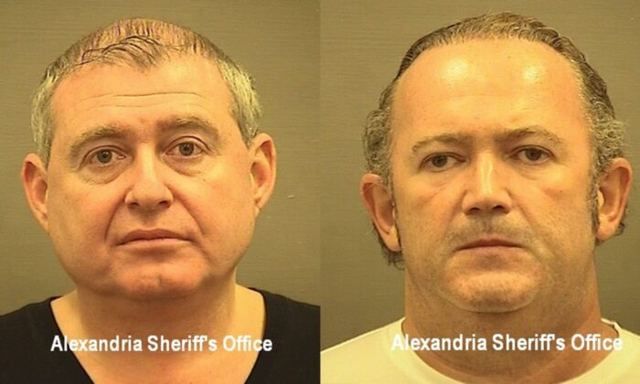 Lev Parnas (L) and Igor Fruman are seen in undated mugshots. (Alexandria Sheriff's office)