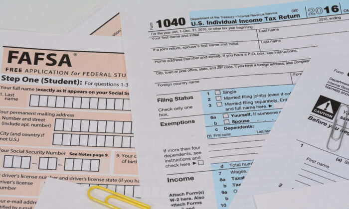 The Free Application for Federal Student Aid (FAFSA) for the 2010-2021 academic year became available on Oct. 1, 2019. It now requires information from 2018 tax returns. (Shutterstock)