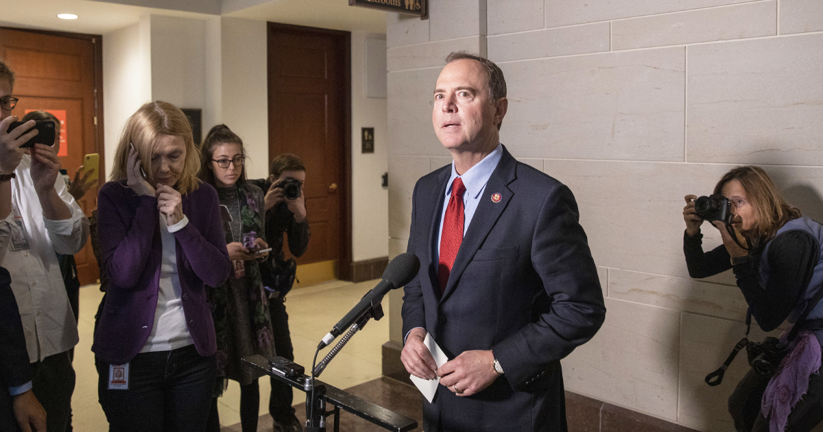 Schiff on Whistleblower Contact: 'I Should Have Been Much More Clear'