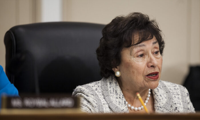 Rep. Nita Lowey (D-N.Y.) in a file photograph in Washington. (Zach Gibson/Getty Images)