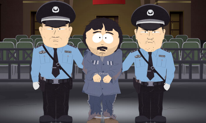 """A still from the South Park episode """"Band in China."""" (Comedy Central/Handout via Reuters)"""