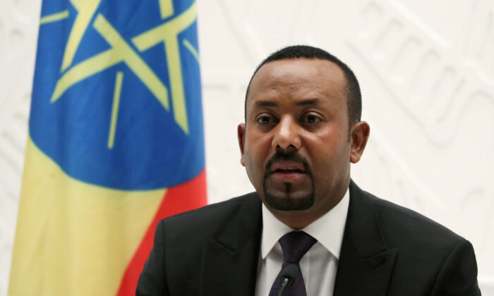 Ethiopia's Prime Minister Abiy Ahmed speaks at a news conference at his office in Addis Ababa, Ethiopia on Aug. 1, 2019. (Tiksa Negeri/File Photo)