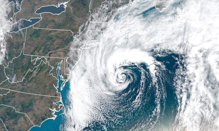 The fall nor'easter spinning southeast of New England strengthened into Subtropical Storm Melissa on Friday, according to the National Hurricane Center. (CNN)