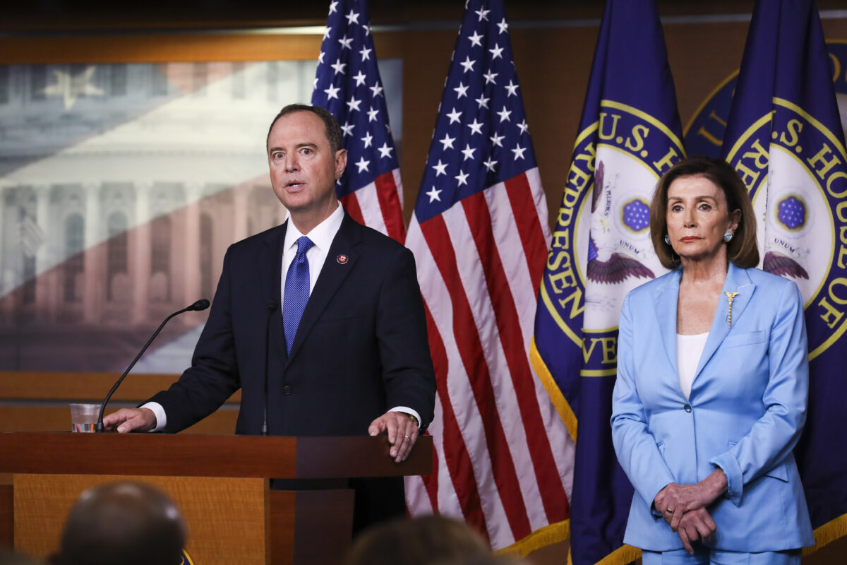 Nancy Pelosi and Rep. Adam Schiff