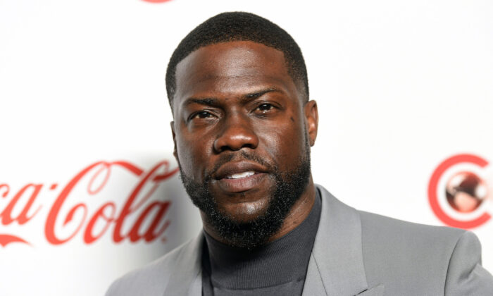 Kevin Hart poses for photos at the Big Screen Achievement Awards at Caesars Palace in Las Vegas on April 4, 2019. (Chris Pizzello/Invision/AP, File)