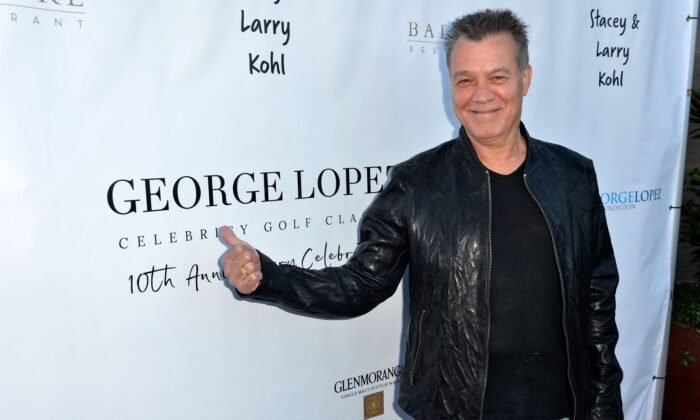 Eddie Van Halen attends the George Lopez Foundation 10th Anniversary Celebration Party at Baltaire in Los Angeles, California, on April 30, 2017.  (Photo by Jerod Harris/Getty Images for George Lopez Foundation)