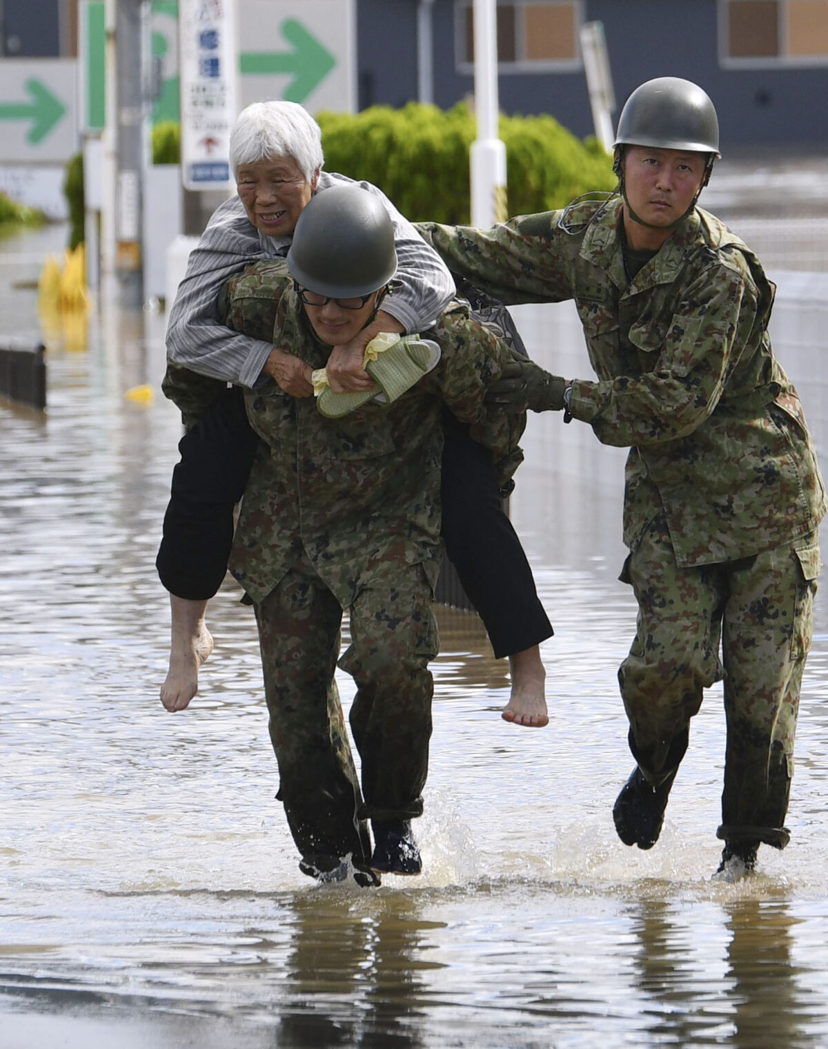 rescue in japan flood after typhoon