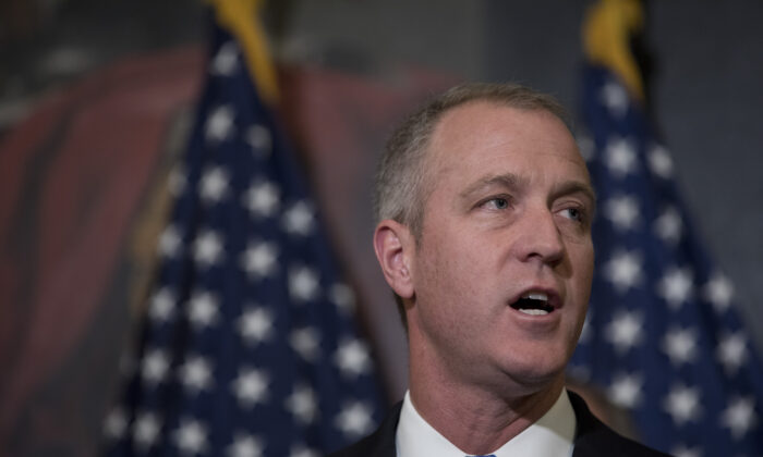 Rep. Sean Patrick Maloney (D-N.Y.) speaks at a press conference on Capitol Hill in Washington, on May 2, 2017. (Aaron P. Bernstein/Getty Images)