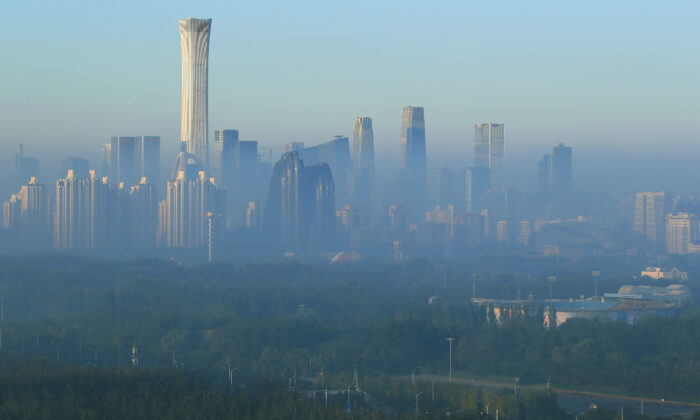 The skyline of the central business district is seen in the morning in Beijing, China on Aug. 21, 2019.  (Reuters)