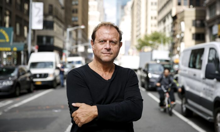 """Dr. Michael Rectenwald, a former professor at New York University and author of """"The Google Archipelago: The Digital Gulag and the Simulation of Freedom"""", in New York City on Oct. 4, 2019. (Samira Bouaou/The Epoch Times)"""