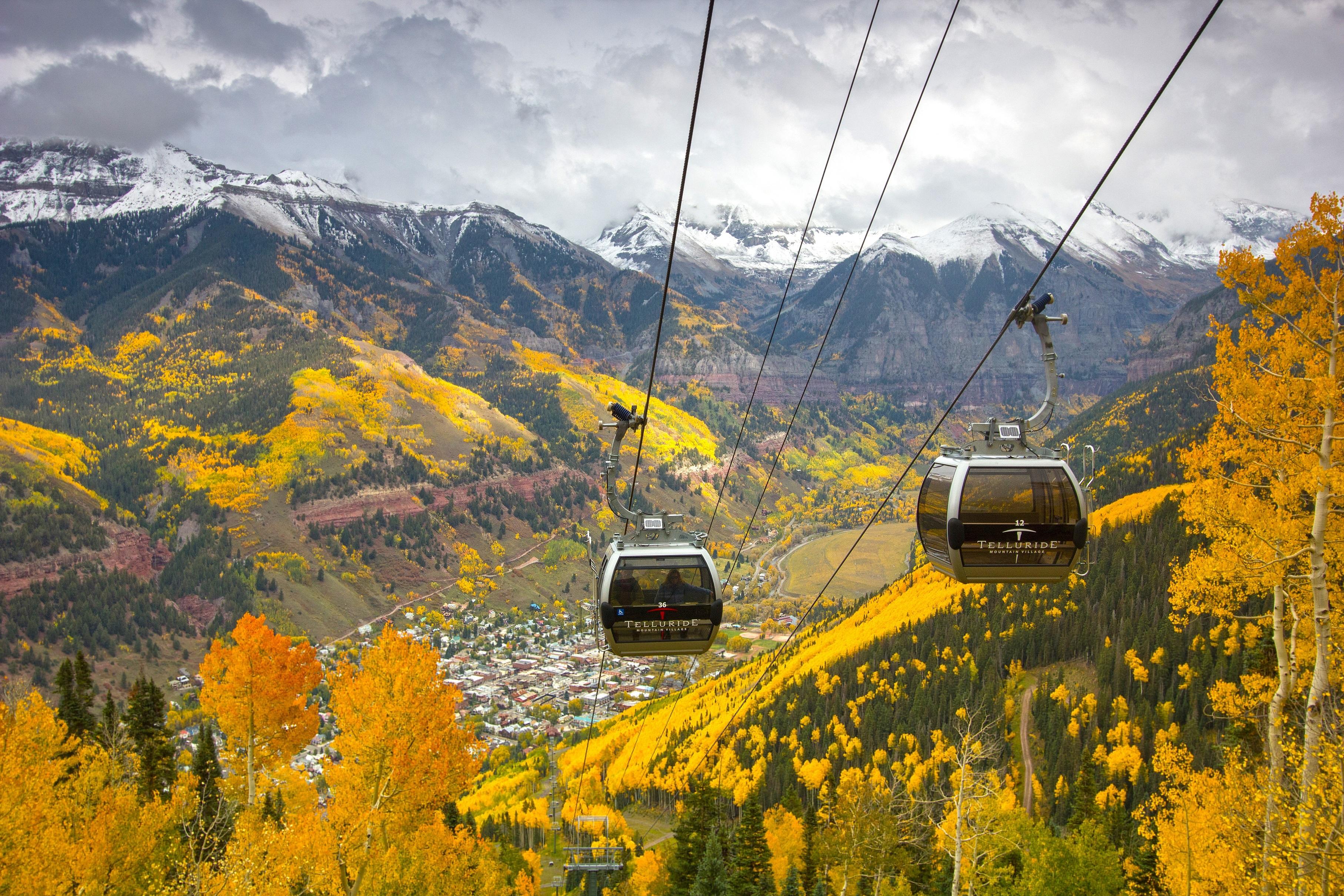 Telluride. Fall Gold Season with Gondolas