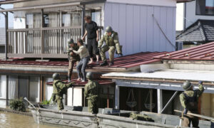 Japan Sends Rescue Workers on Search Operation in Typhoon-Hit Areas
