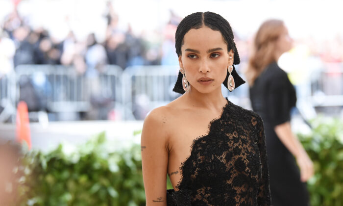 Zoë Kravitz attends the Heavenly Bodies: Fashion & The Catholic Imagination Costume Institute Gala at The Metropolitan Museum of Art in New York City on May 7, 2018. (Jamie McCarthy/Getty Images)