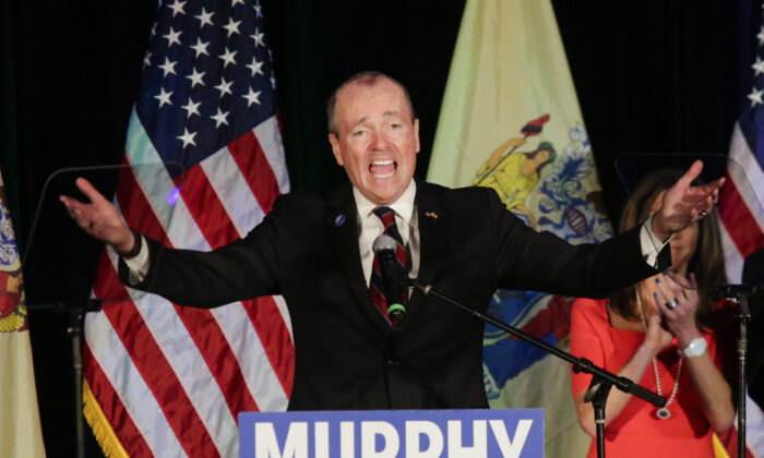 New Jersey Gov.-elect Phil Murphy speaks at an election night rally on November 7, 2017 in Asbury Park, New Jersey. Eduardo Munoz Alvarez/Getty Images