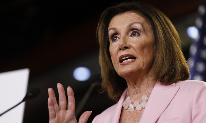 House Speaker Nancy Pelosi, a California Democrat, on Capitol Hill in Washington, D.C., on Sept. 12, 2019.  (Tom Brenner/Getty Images)