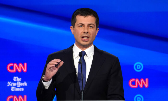 South Bend, Indiana Mayor Pete Buttigieg speaks during the fourth Democratic 2020 debate in Westerville, Ohio on Oct. 15, 2019. (Shannon Stapleton/Reuters)
