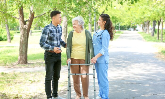 Researchers found that taking physically aggressive Alzheimer patients for outdoor activities was more effective than treating them with antipsychotic medications.  (Pixel-Shot/Shutterstock)