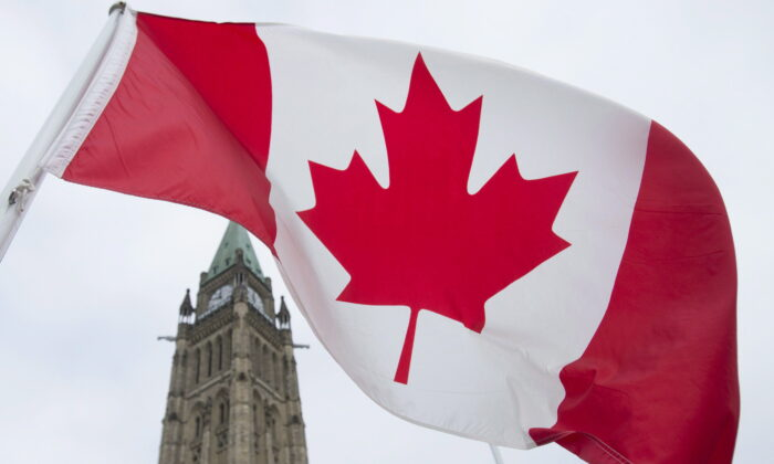 The Canadian flag flies on Parliament Hill in Ottawa in a file photo. (THE CANADIAN PRESS/Adrian Wyld)