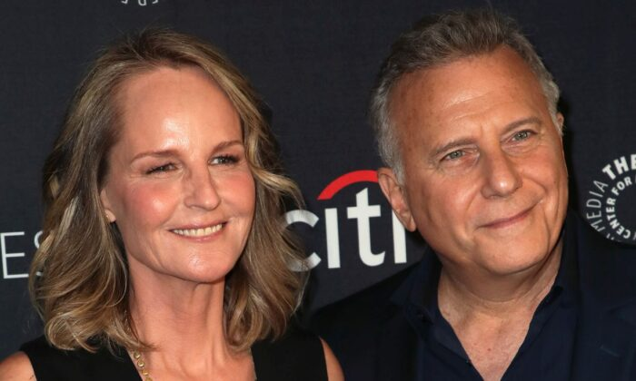 """Helen Hunt and Paul Reiser of """"Mad About You"""" attend The Paley Center for Media's 2019 PaleyFest Fall TV Previews - Spectrum at The Paley Center for Media in Beverly Hills, Calif., on Sept. 7, 2019. (David Livingston/Getty Images)"""