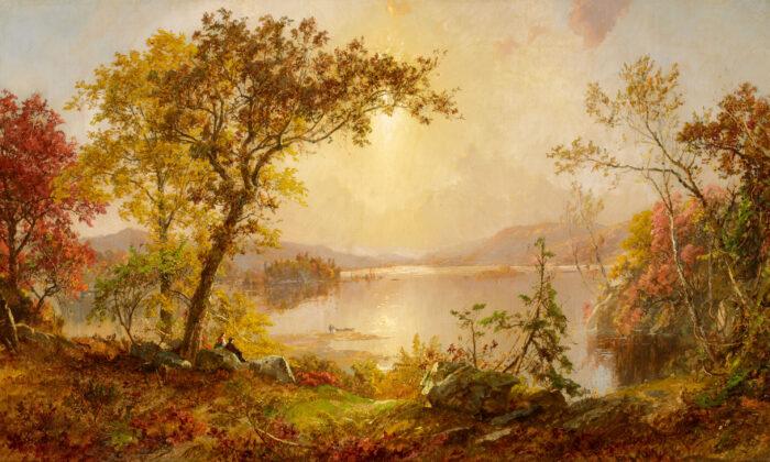 """Greenwood Lake, Autumn on the Hudson,"" 1875, Jasper Francis Cropsey."