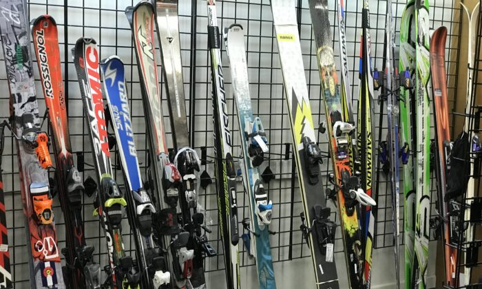 The 2017 ski sale at Unclaimed Baggage. (Courtesy of Unclaimed Baggage)