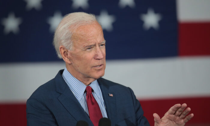Democratic Presidential candidate former Vice President Joe Biden speaks during a campaign stop in Davenport, Iowa on Oct. 16, 2019. (Scott Olson/Getty Images)