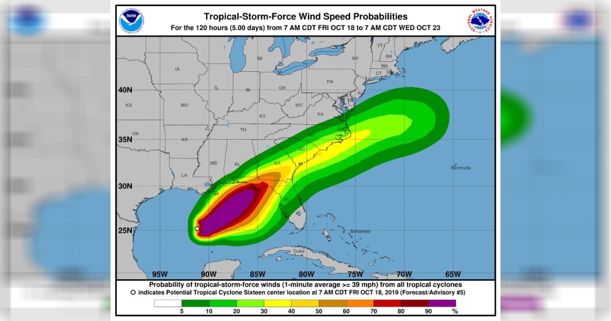 Tropical Storm Nestor Forecast to Intensify Along Gulf Coast