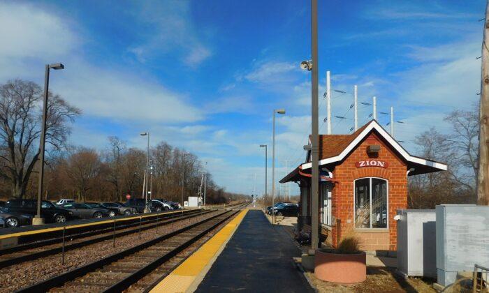 The commuter rail station in Zion, Illinois, Jan. 8, 2019. (mitchazenia/ Creative Commons Attribution-Share Alike 4.0 International/via Wikimedia Commons)
