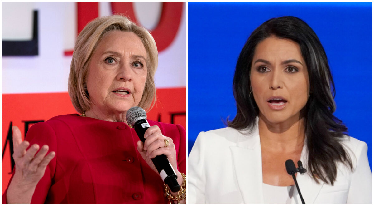 Hillary Clinton and Tulsi Gabbard