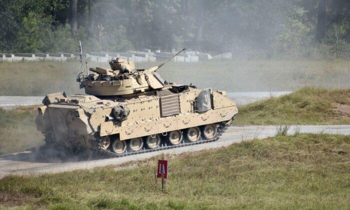 A Bradley Fighting Vehicle is seen at Fort Stewart, Georgia in a file photo. ((SPC Jordyn Worshek/US Army)