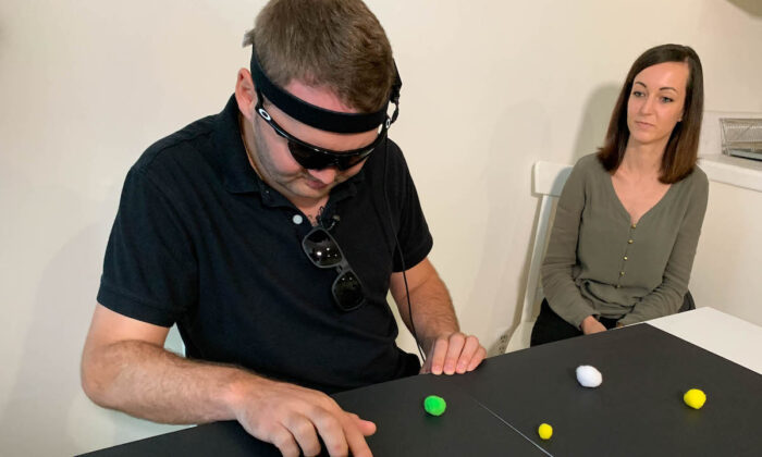 Jason Esterhuizen was in a car accident that left him blind at age 23. (Courtesy of UCLA Health)