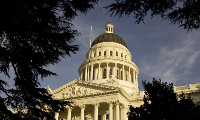 An exterior of the state capitol is shown in Sacramento, Calif., on Jan. 5, 2006. (David Paul Morris/Getty Images)