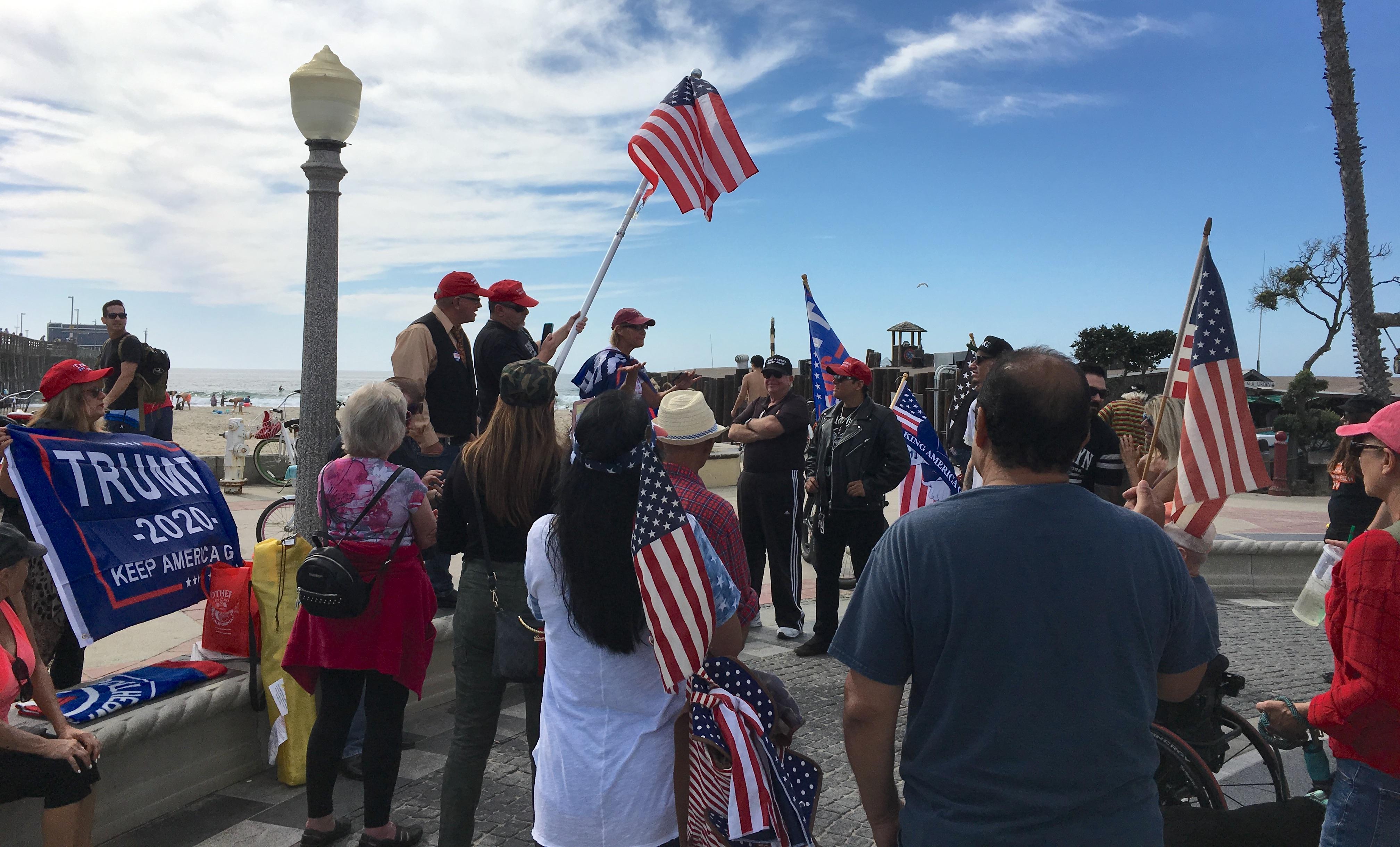 Newport Beach Trump Rally Inspires Civil Dialogue
