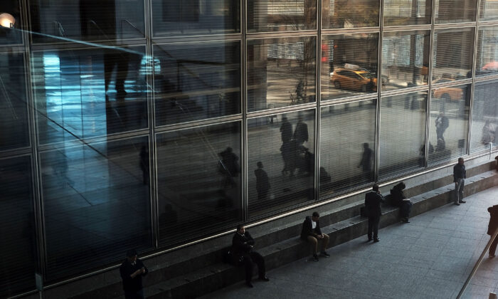 The Goldman Sachs building is seen in lower Manhattan on April 15, 2016 in New York City. (Spencer Platt/Getty Images)