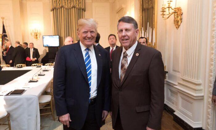 Arizona State Senator David Farnsworth (R) with President Donald Trump, December 2018. (Courtesy David Farnsworth)