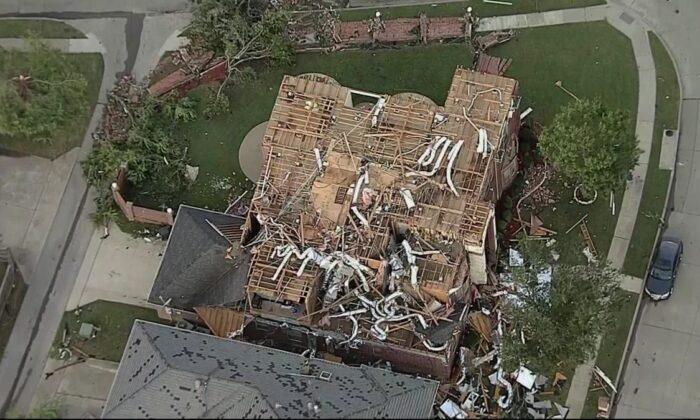 Aerial images of the damage caused by the tornado which churned through northern Dallas on Oct. 20. (Courtesy of KTVT)