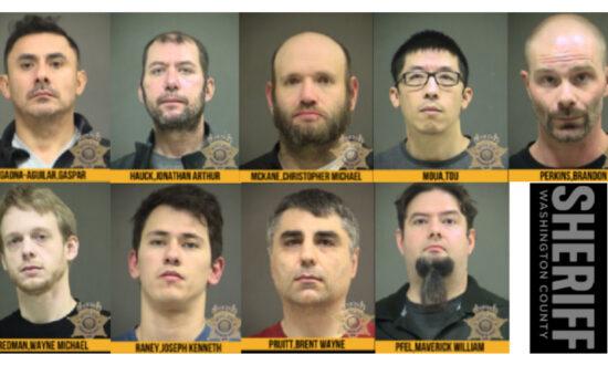 9 Men Arrested in Undercover Child Predator Sting