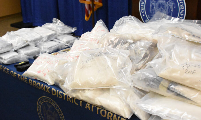 Fentanyl and heroin seized by the NYPD. (DEA)