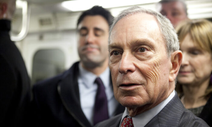 New York City Mayor Michael Bloomberg at an event on his last day in office, New York City, Dec. 31, 2013. (Samira Bouaou/Epoch Times)