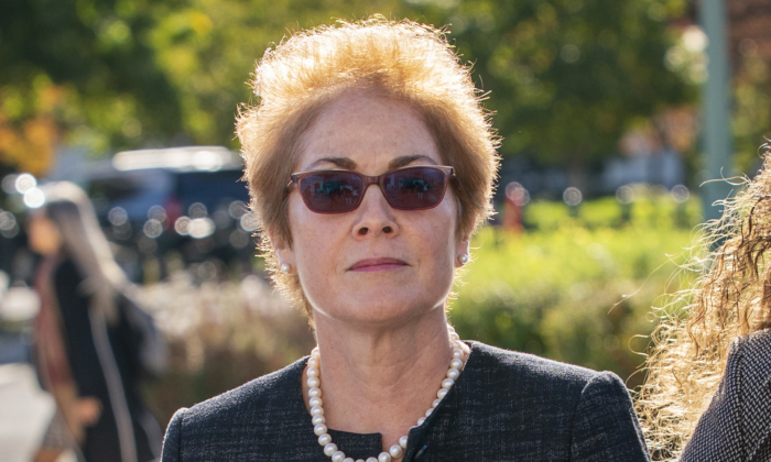 Former U.S. ambassador to Ukraine Marie Yovanovitch, arrives on Capitol Hill, Oct. 11, 2019, in Washington to testify before congressional lawmakers as part of the House impeachment inquiry into President Donald Trump. (J. Scott Applewhite/AP Photo)
