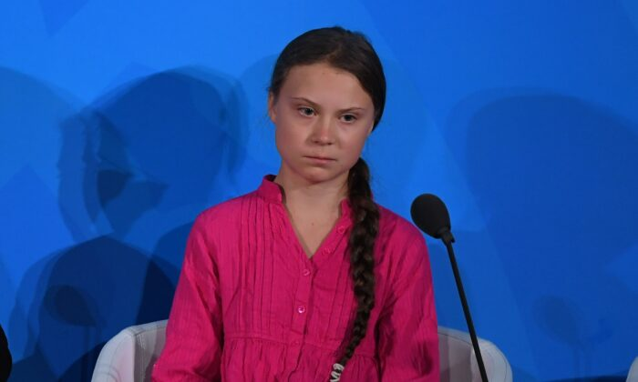 Youth Climate activist Greta Thunberg speaks during the UN Climate Action Summit on September 23, 2019 at the United Nations Headquarters in New York City. TIMOTHY A. CLARY/AFP/Getty Images