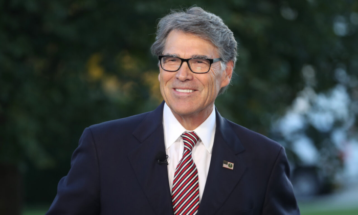 Secretary of Energy Rick Perry at the White House in Washington on Oct. 23, 2019. (Mark Wilson/Getty Images)